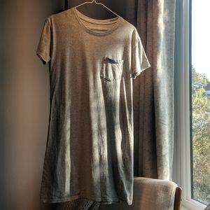 Everlane t-shirt dress, 100% cotton, gray